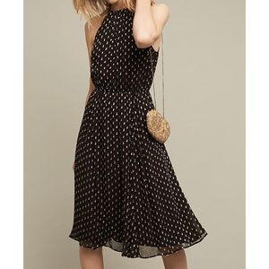 NWT Plenty by Tracy Reese Golden Dots Halter Dress
